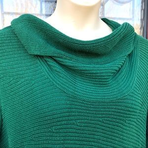 Vince Camuto Green Cowl Neck Cotton Sweater XL